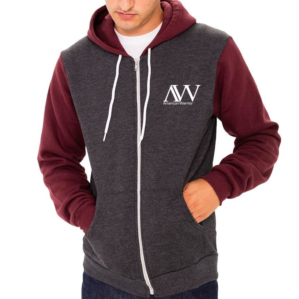 American Warrior Born Bred Freedom Fed - Zip Up Hoodie