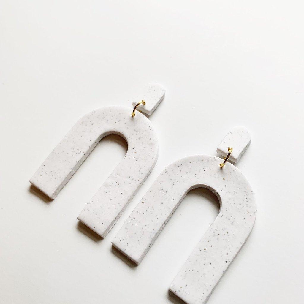 Hey Grl Hey Jewelry The Azeri Earring in White