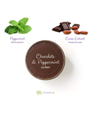 Homesteader.life Chocolate and Peppermint Lip Balm