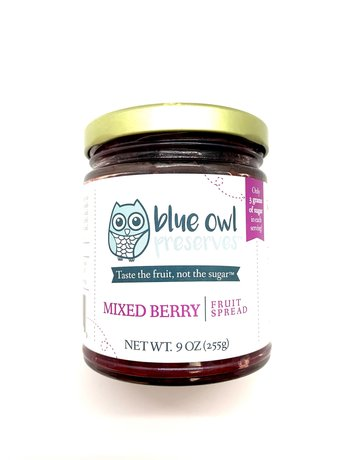 Blue Owl Perserve Mixed Berry Fruit Spread - 9 oz.