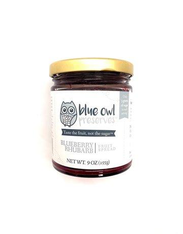 Blue Owl Perserve Blueberry Rhubarb Fruit Spread - 9 oz.