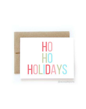 aCouple Puns Ho Ho Holidays Card