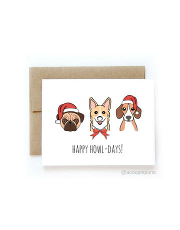 aCouple Puns Happy Howl-Days! Card