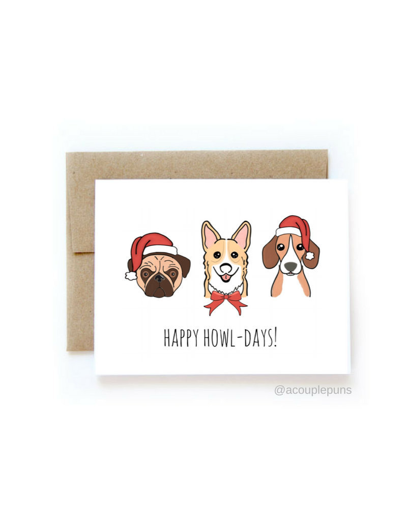 aCouple Puns Happy Howl-Days! Card