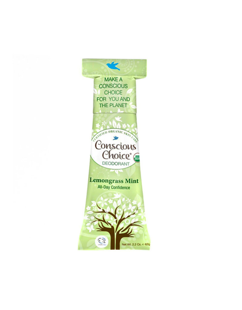 Conscious Choice Lemongrass Mint Organic Deodorant