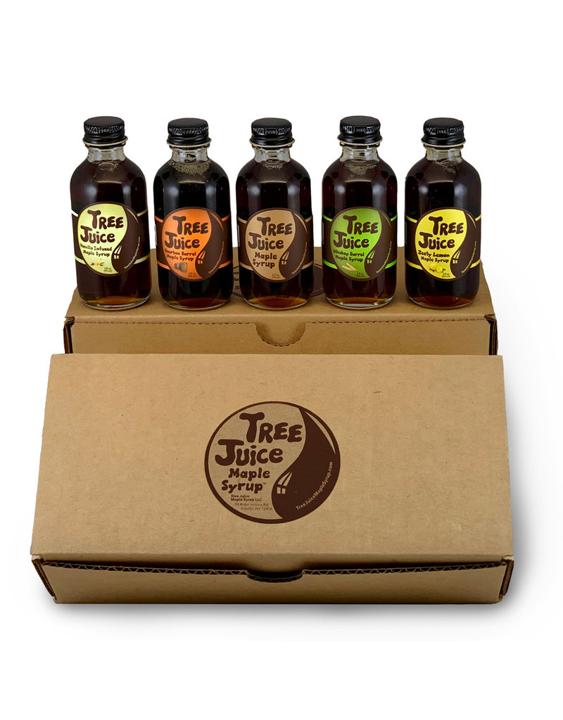 Tree Juice Maple Syrup Mini Variety 5 Pack of Maple Syrup