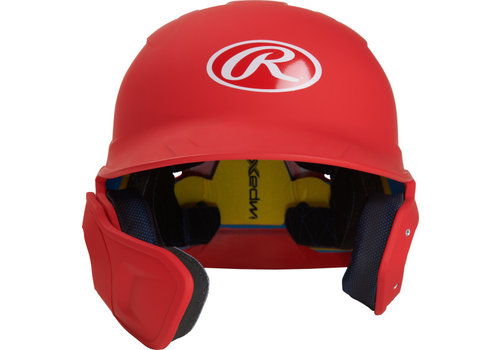 Rawlings Mach Senior One-Tone Batting Helmet w/Flap