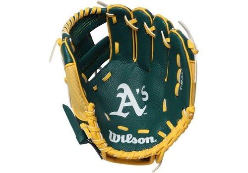 "Wilson A200 Oakland Athletics 10"" Tee Ball Glove Right Hand Throw"