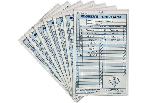 Glover's Line Up Cards