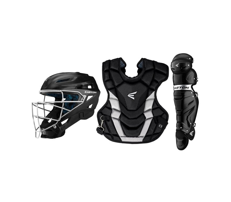 Youth Gametime Catcher's Kit - Black/Silver