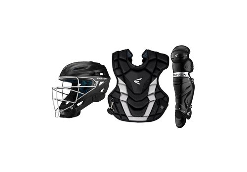 Easton Adult Gametime Catcher's Kit - Black/Silver