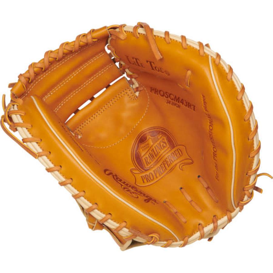 "Rawlings Pro Preferred 34"" Catcher's Baseball Mitt PROSCM43RT"