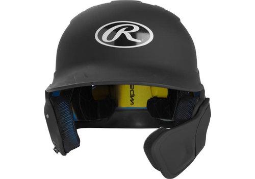 Rawlings Mach Matte Senior 1-Tone Batting Helmet w/Flap