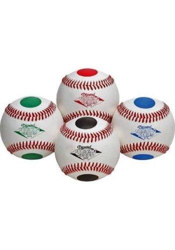 Dotted Training Baseballs - 1 Dozen