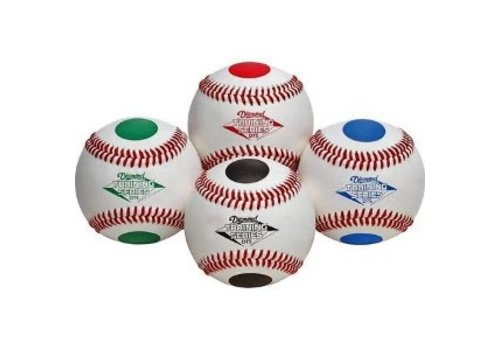 Diamond Dotted Training Baseballs - 1 Dozen