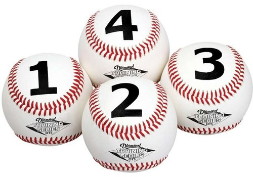 Diamond Numbered Training Baseballs - 1 Dozen
