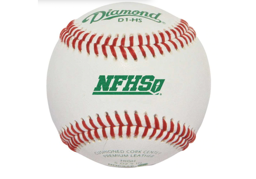 Diamond D1-HS NFHS Baseballs - 1 Dozen