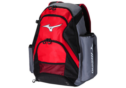 Mizuno MVP Backpack - Scarlet/Grey