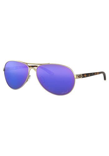 Oakley Feedback Polished Gold Violet Irid Polarized Sunglassed