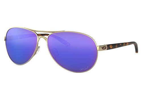 Oakley Feedback Polished Gold Violet Irid Polarized Sunglassed