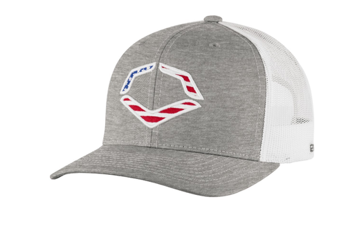 Evoshield USA Snapback Trucker Hat - Heather Grey