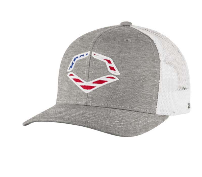 USA Snapback Trucker Hat - Heather Grey