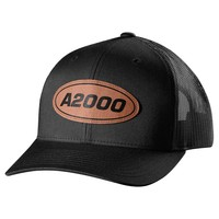 Wilson A2000 Leather Patch Trucker Hat - Black