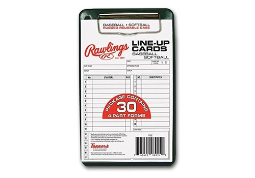 Rawlings Lineup Card w/Case