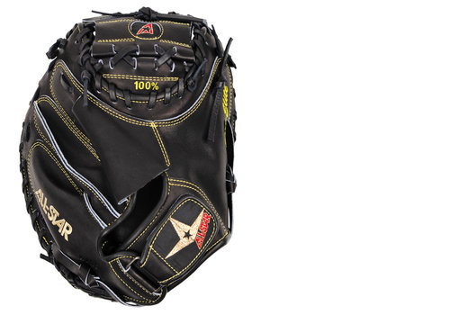 "All-Star 34"" Pro Elite Catcher's Mitt Solid Black"
