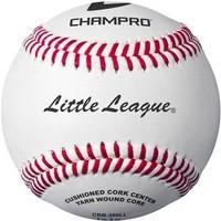Champro Little League Game RS - Cork/Rubber Core - Genuine Leather Cover Baseballs - Dozen