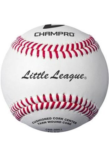Champro Little League Game RS - Cork/Rubber Core - Genuine Leather Cover Baseballs - Dozen