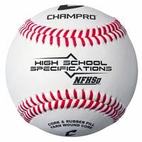 Champro NFHS/SEI/NOCSAE Approved Baseball - Full Grain Leather - Dozen