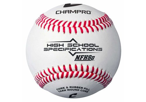 Champro Sports NFHS/SEI/NOCSAE Approved Baseball - Full Grain Leather - Dozen