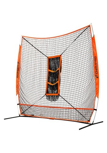 "Champro MVP Portable Training Net with TZ3 Training Zone - 7"" x 7"" Bulk Packaging"