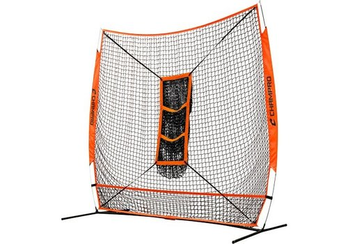 "Champro Sports MVP Portable Training Net with TZ3 Training Zone - 7"" x 7"" Bulk Packaging"