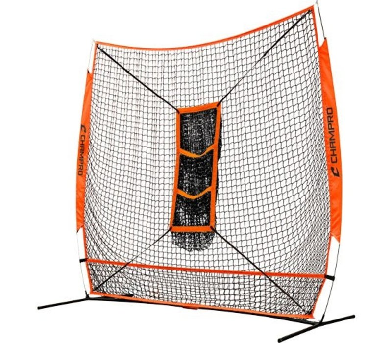 "MVP Portable Training Net with TZ3 Training Zone - 7"" x 7"" Bulk Packaging"