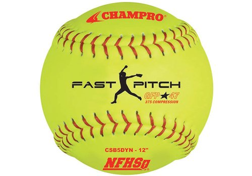 "Champro NFHS 12"" Fast Pitch - Leather Cover .47 Cor"