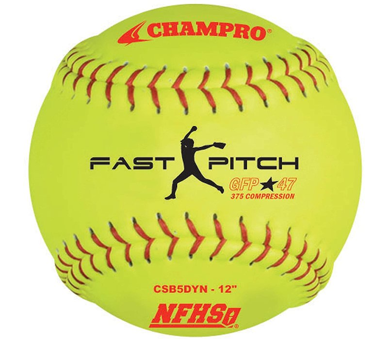 "NFHS 12"" Fast Pitch - Leather Cover .47 Cor"