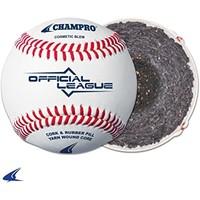 Champro Official League - Cushion Cork Core - Full Grain Leather Cover Baseballs
