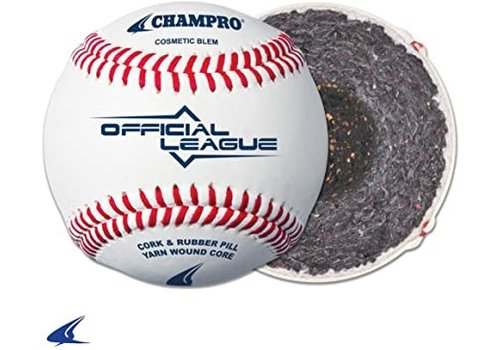 Champro Sports Official League - Cushion Cork Core - Full Grain Leather Cover Baseballs