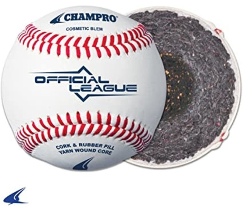 Official League - Cushion Cork Core - Full Grain Leather Cover Baseballs