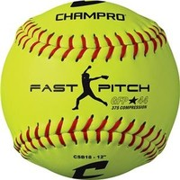 "Champro  12"" Fast Pitch - Durahide Cover .44 COR CSB18 Softballs"