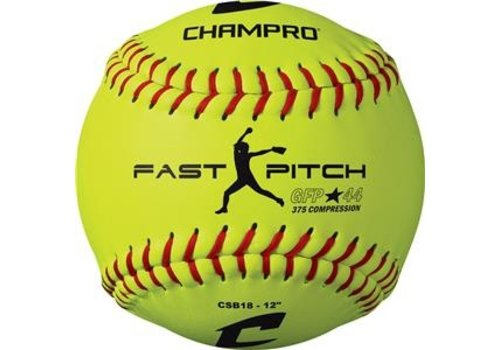 "Champro 12"" Fast Pitch - Durahide Cover .44 COR CSB18 Softballs - Dozen"