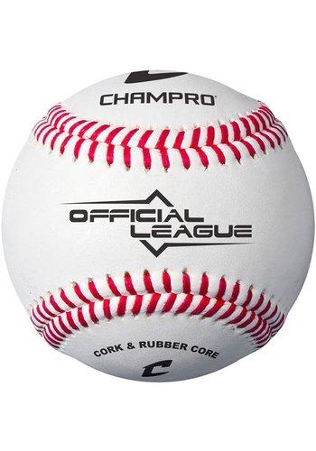 Champro CBB-90 Official League Baseball (Dozen) - Cork/Rubber Core - Synthetic