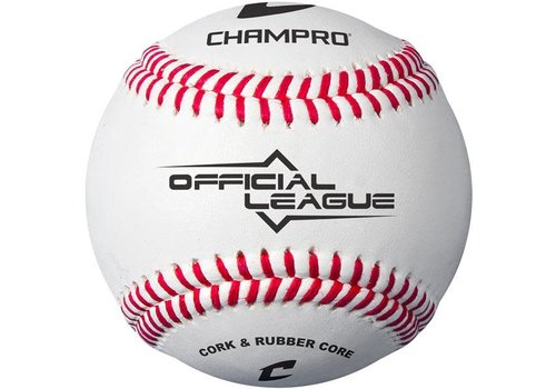 Champro CBB-90 Official League Baseball (Dozen) - Cork/Rubber Core - Synthetic