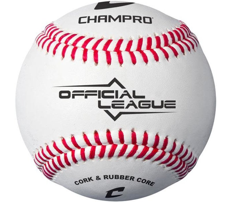 CBB-90 Official League Baseball (Dozen) - Cork/Rubber Core - Synthetic
