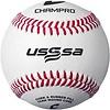 Champro Sports USSSA Game Baseballs - Full Grain Leather Cover (Dozen)