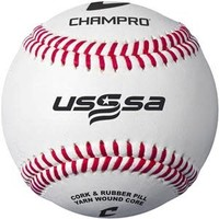 Champro USSSA Game Baseballs - Full Grain Leather Cover (Dozen)