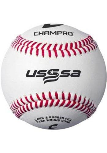 Champro USSSA Game Baseballs - Full Grain Leather Cover (Dozen)