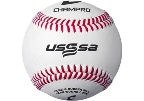 Champro Sports USSSA Game Baseballs - Full Grain Leather Cover (Dozen)